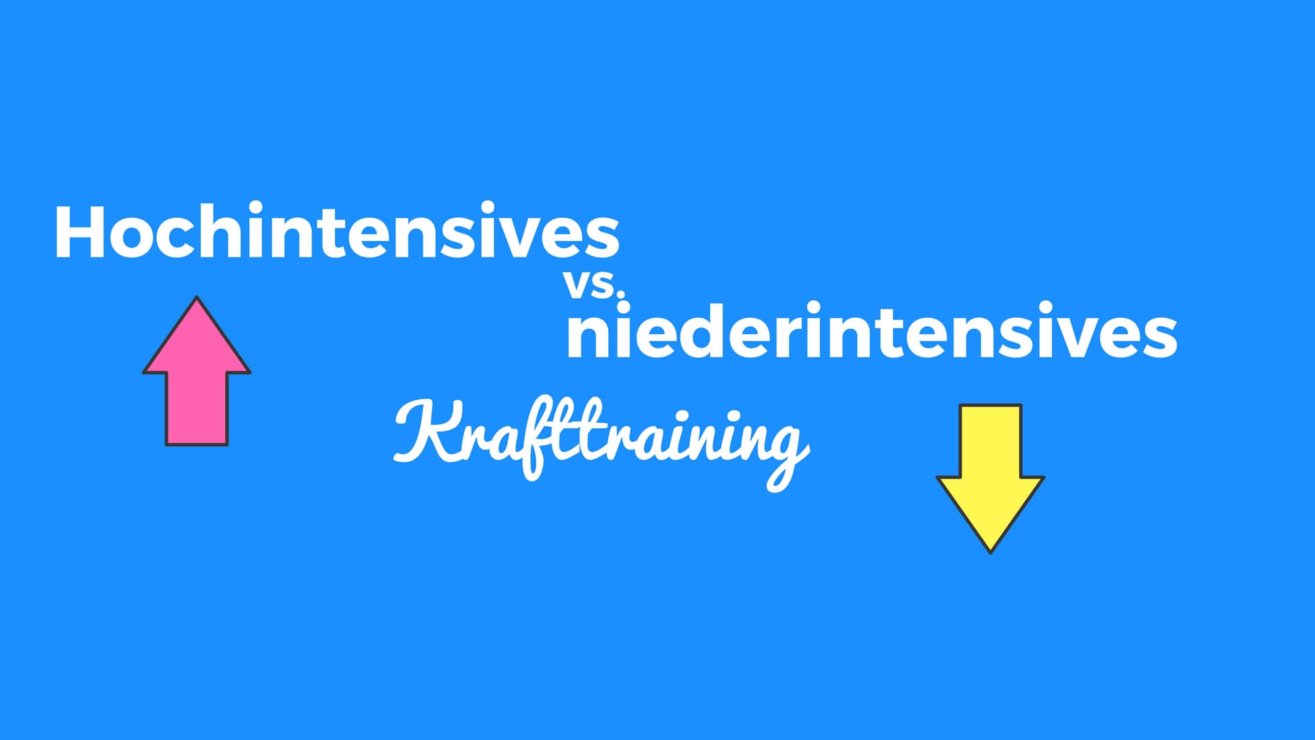 hochintensives vs. niederintensives krafttraining